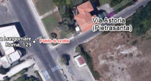 Punto di svolta Pietrasanta Via Astoria
